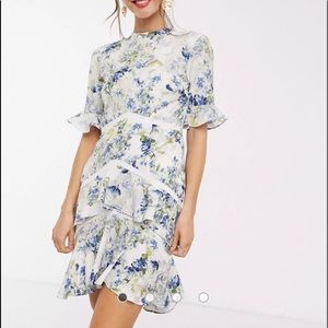 Hope & Ivy Floral Romantic High/Low Dress 6